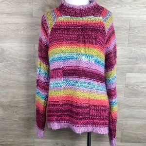 Anthropologie Relaus Striped Sweater-Size L